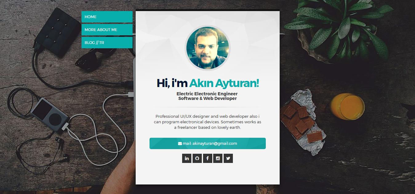 Akın Yasin Ayturan Electric Electronic Engineer Software Web Developer